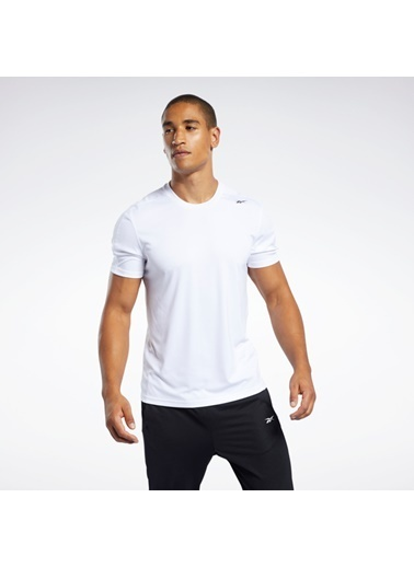 Reebok Workout Ready Polyester Tech T-Shırt Beyaz